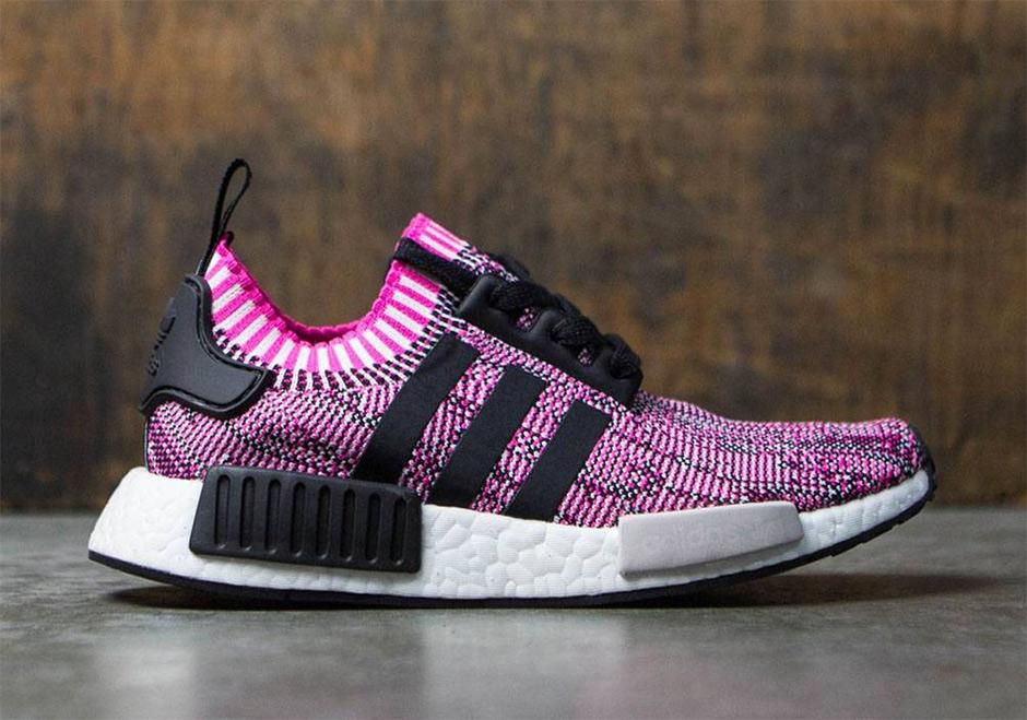 """02f12bcd89ec MensWomens Adidas Originals NMD R1 Primeknit adidas NMD R1 Primeknit """"Shock  Pink"""" Release Date April 20th"""