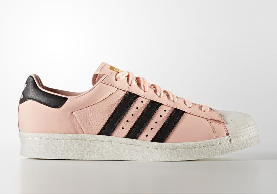 adidas superstar black and pink