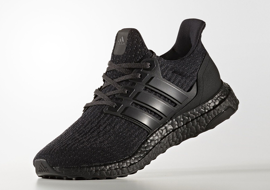 adidas ultra boost 3 0 triple black matte heel cg3038. Black Bedroom Furniture Sets. Home Design Ideas