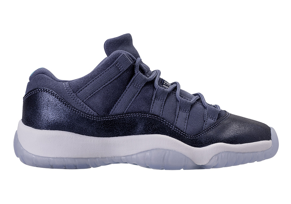 "d3cfa076cf5 Air Jordan 11 Low GG ""Blue Moon"" Release Date: April 22nd, 2017 $130.  Color: Blue Moon/Midnight Navy-White"