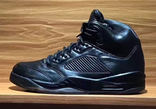 "The Air Jordan 5 Premium ""Triple Black"" Is Set To Release This Summer"