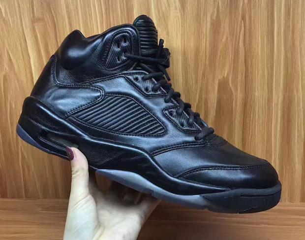 "a7a5de20e3080d Air Jordan 5 Premium ""Triple Black"" Release Date  July 8th"