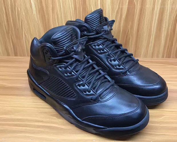 official photos 6462e c8c3e Air Jordan 5 Premium Triple Black Release Date   SneakerNews.com