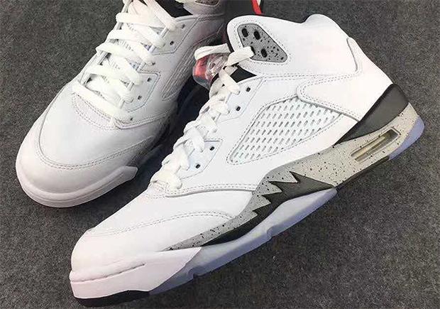 "0c32118da0d1 The Air Jordan 5 Retro Borrows The ""White Cement"" Colorway"
