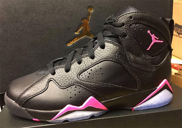 buy online 84fec a3ff6 Air Jordan 7 Black Pink To Release In Girls Sizes