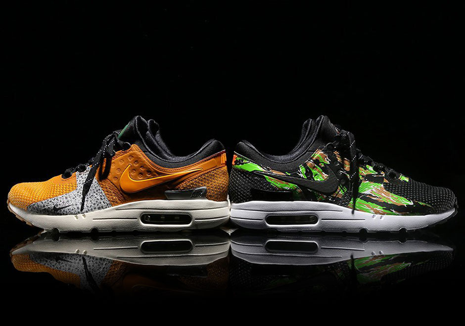 "The atmos x NIKEiD Air Max Zero ""Safari"" And ""Camo"" Are Limited To 400 Pairs Each"
