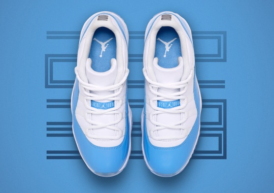 "The Air Jordan 11 Low ""UNC"" Is Releasing In Full Family Sizes"