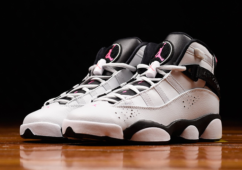 """new arrival 02963 b52e0 Jordan Six Rings GG """"Pink Flash"""" Available Now  130. Color  White Pure  Platinum-Pink Flash-Black"""