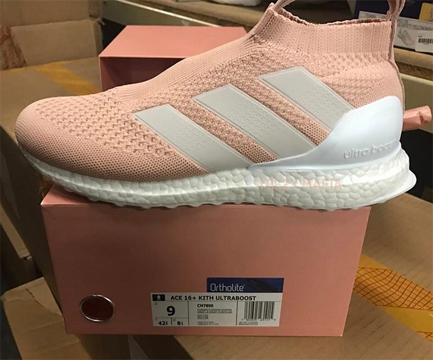 wholesale dealer eb8fe 1151a KITH x adidas ACE16+ Ultra Boost Clear GraniteClear GraniteVapour Pink  Style Code CM7890. Source yeezymafia