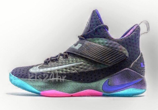 New Nike LeBron Basketball Shoe With Iridescent Uppers Is Revealed