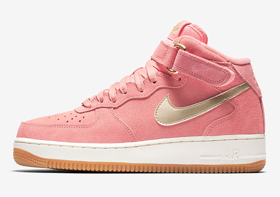 free delivery new release later Nike WMNS Air Force 1 Mid Bright Melon 818596-800 ...