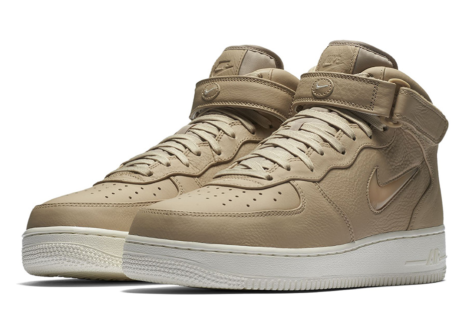 "on sale d4353 b9b1f The Vachetta Tan colorways of the NikeLab Air Force 1 ""Jewel"" will hit  select Nike sportswear accounts and Nike.com soon."