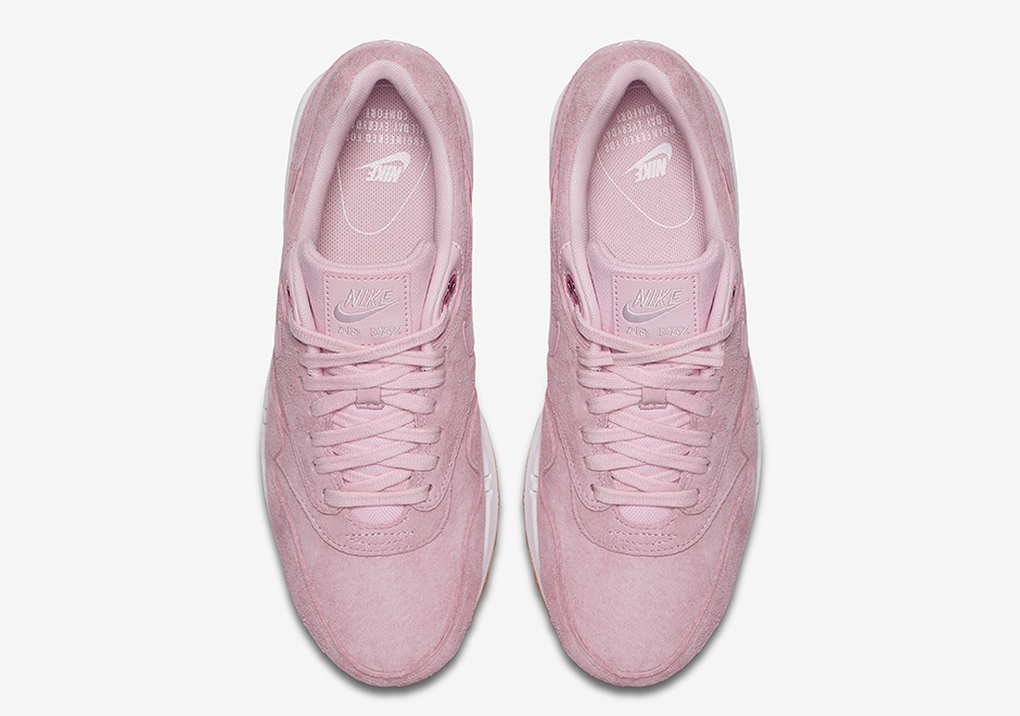 """6a14e573c1135 Nike Air Max 1 """"Pink Suede"""" Release Date: Spring 2017. Style Code:  919484-600. Advertisement"""