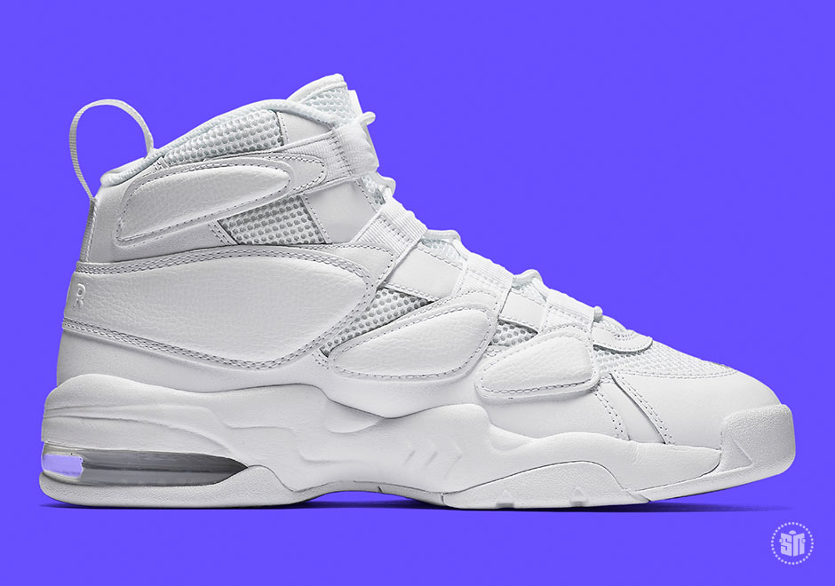 """save off 02fc1 41617 Nike Air Max 2 Uptempo '94 """"Triple White"""" Global Release Date: May 26th,  2017 $140. Color: White/White-White Style Code: 922934-100"""