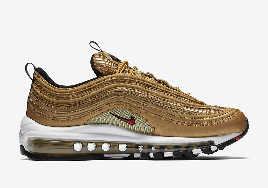 "d303ad92d9f9 Nike Air Max 97 GS ""Metallic Gold"" Release Date  May 18th"
