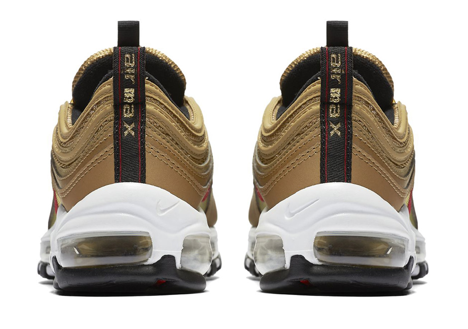 "79a98edd8c4b99 Nike Air Max 97 OG ""Metallic Gold"" Releasing In Kids Sizes"