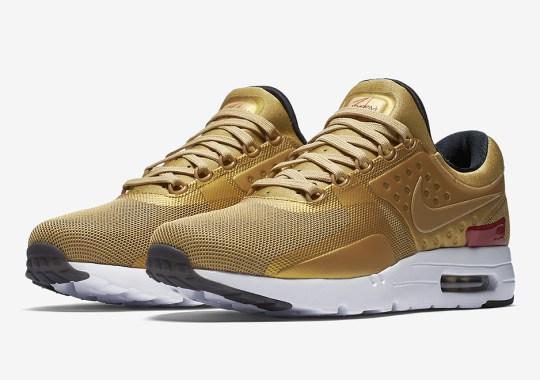 "The Nike Air Max Zero Is Releasing In ""Metallic Gold"" Too"