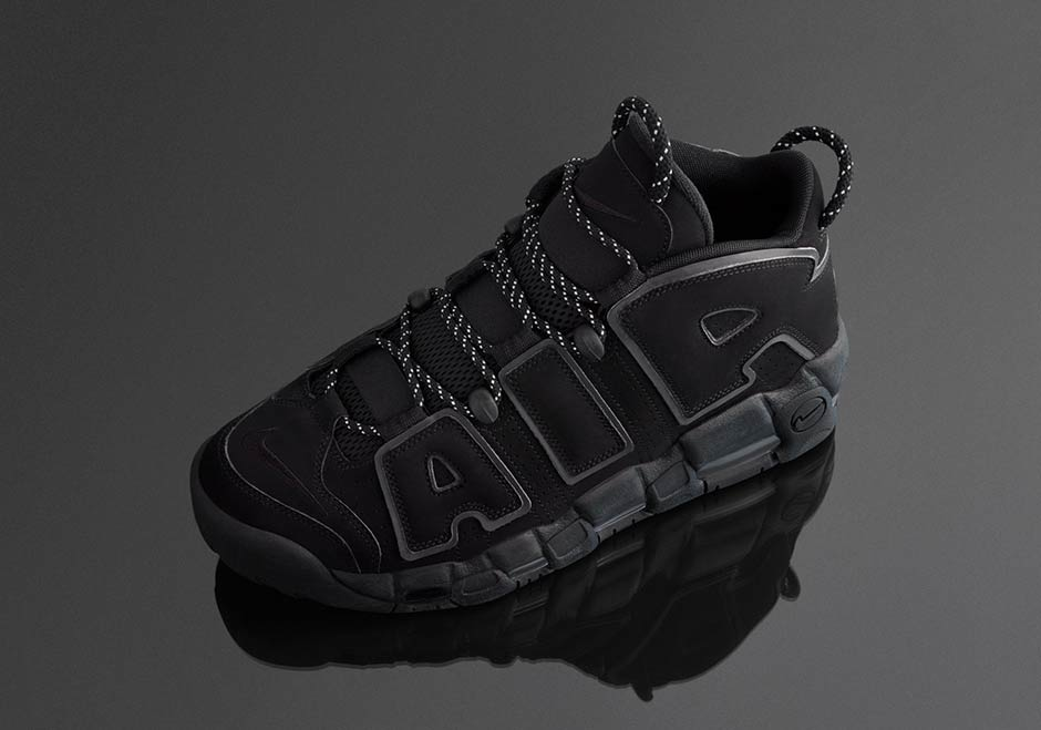 3d27aa53341 Nike Air More Uptempo Triple Black Reflective 414962-004 ...