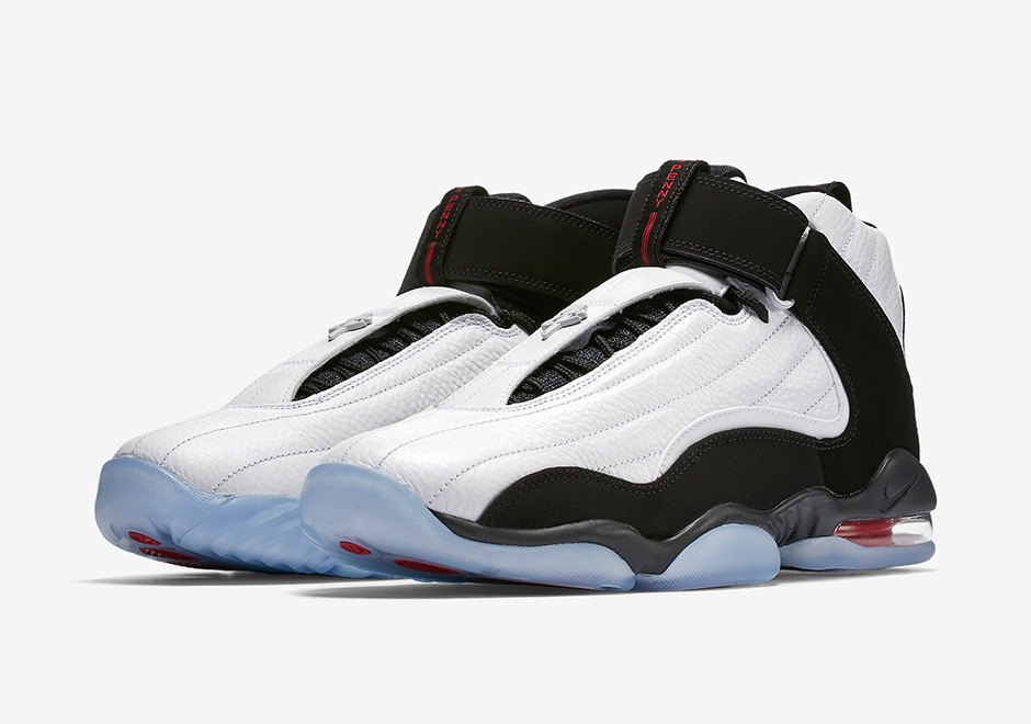 Classic 2005 Used Worn Size 15 Nike Air Max Penny Iv 4 Shoes White Blue  Black 592ca643a