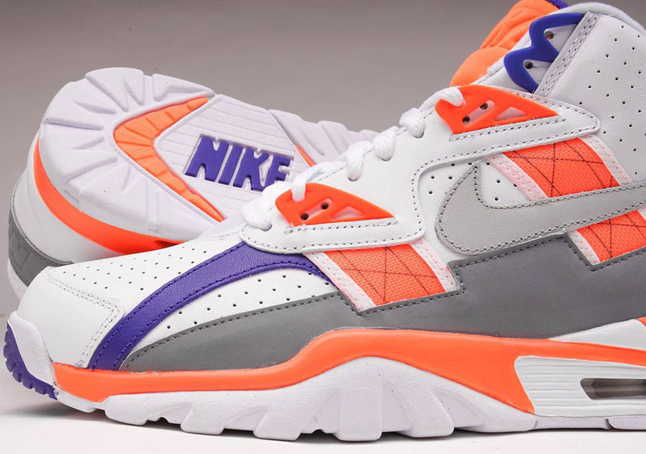 new arrival f0996 60486 ... Front  Nike Air Trainer SC High 130. Color White Light Zen Grey-Total  Orange ...