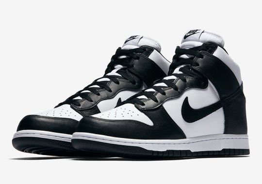 on sale d6703 3b321 Nike Dunk High Retro In Classic Black And White