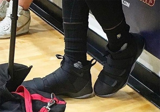 LeBron James Spotted In Nike LeBron Soldier 11 In Practice