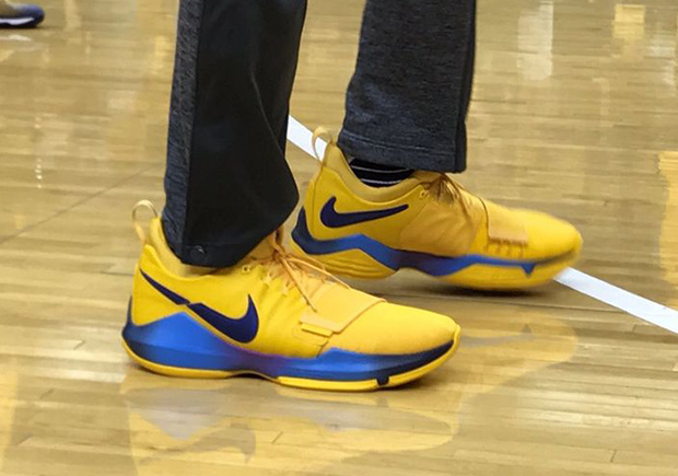 competitive price 37f94 1d128 Nike PG1 Paul George Gold PE Playoffs | SneakerNews.com