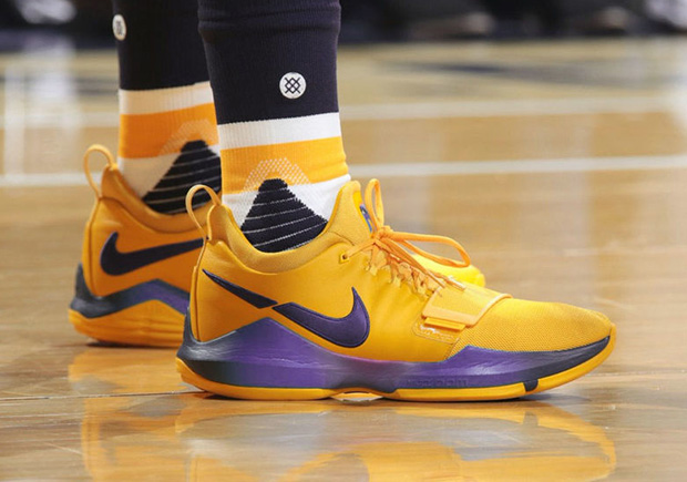 72aafbaa8a6c Nike PG1 Paul George Gold PE Playoffs