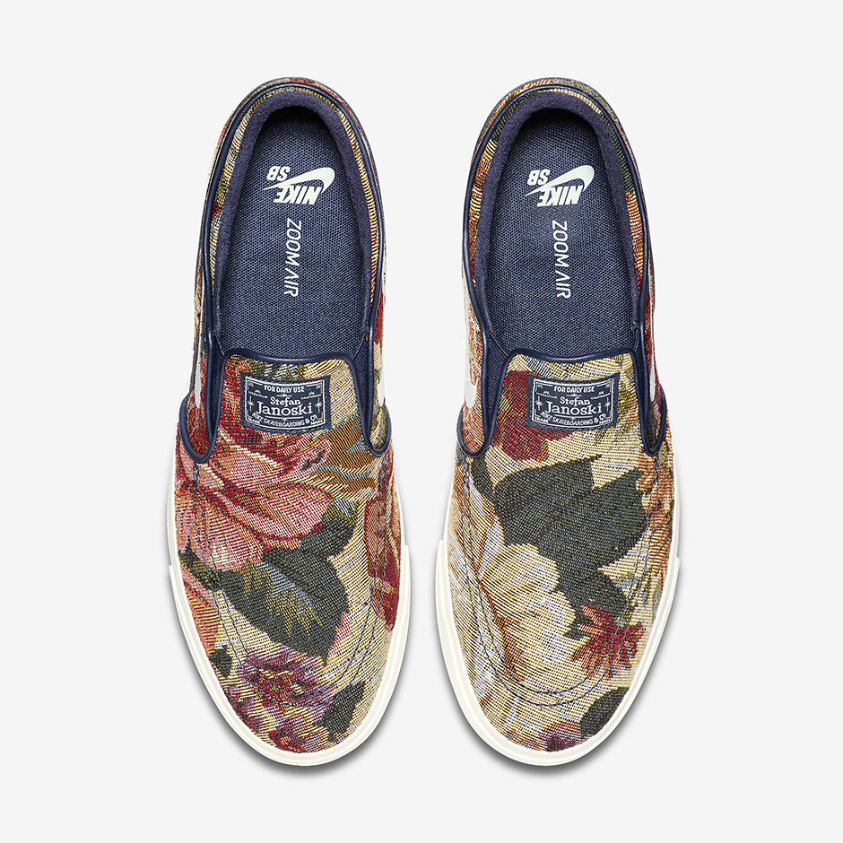 "Nike SB Zoom Stefan Janoski Slip-On ""Floral"" Release Date  April 13th 5ccc09ac8"