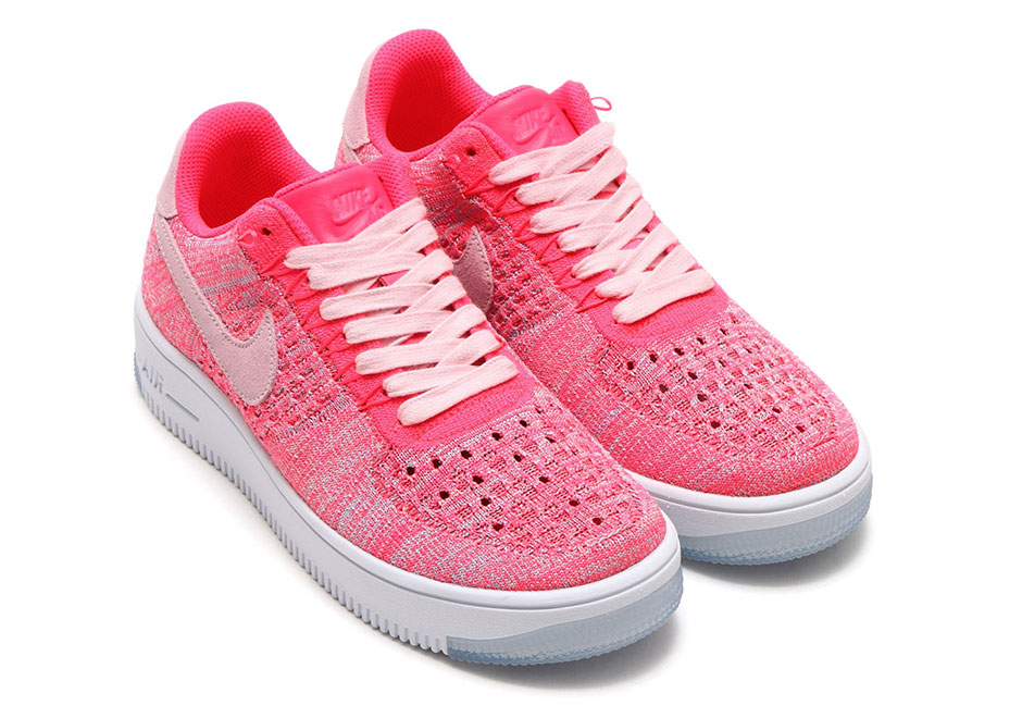 huge discount 65755 58824 Hot Pink Flyknit Hits The Nike Air Force 1 Low