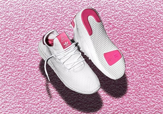 Pharrell's Next adidas Human Race Shoe Appears In White/Pink Colorway