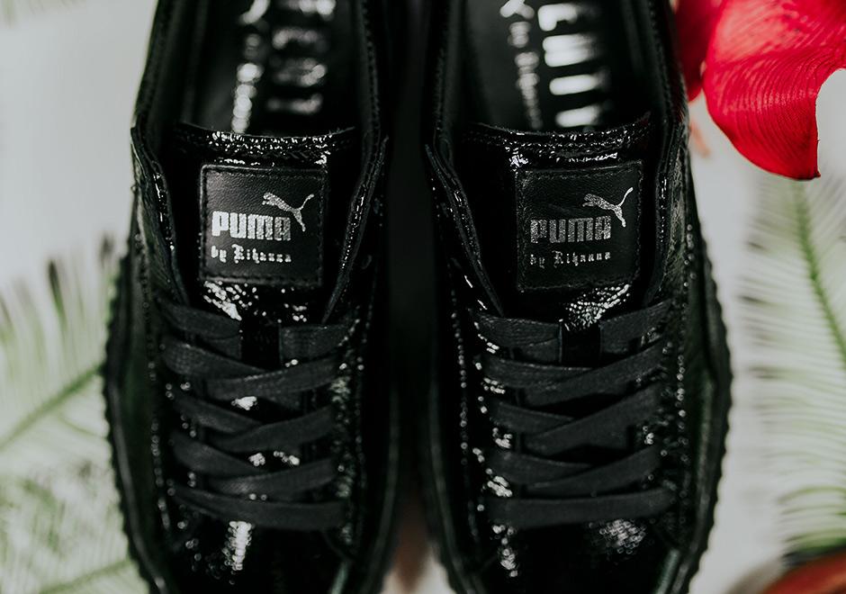 more photos e8828 1e806 Rihanna Puma Creeper Black Patent Leather | Sneakernews.com