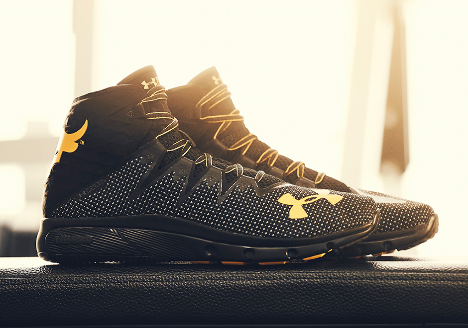 under armour shoes. the rock is everywhere. professional wrestler turned biggest action star in world works harder than anyone show business, and dwyane \u201cthe rock\u201d under armour shoes r