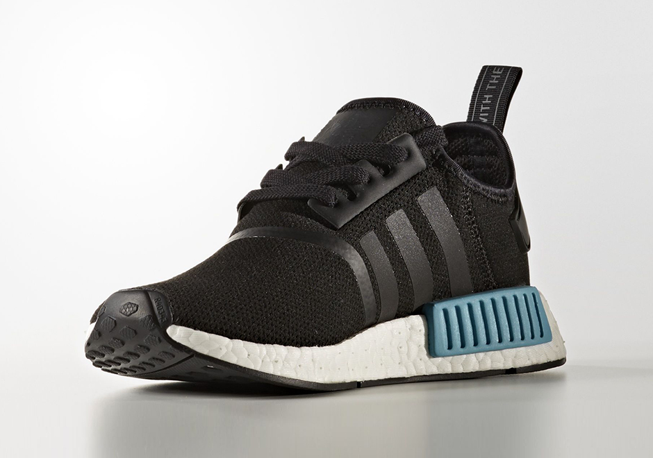 "e1840668cadf8 adidas NMD R1 ""Icey Blue"" AVAILABLE ON Finishline  130. Color  Core  Black Icey Blue-White"