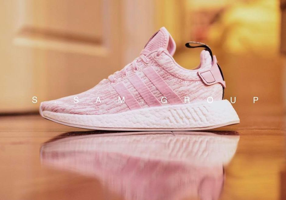 "5fb9d661138e26 adidas NMD R2 ""Wonder Pink"" Release Date  July 2017. Color  Wonder Pink Core  Black"