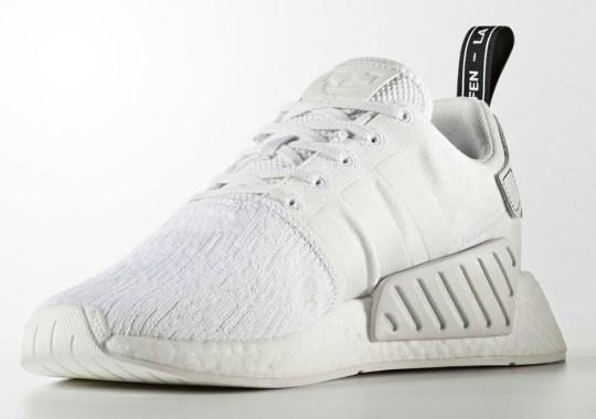 """Triple White"" Is Hitting The adidas NMD R2 Primeknit"