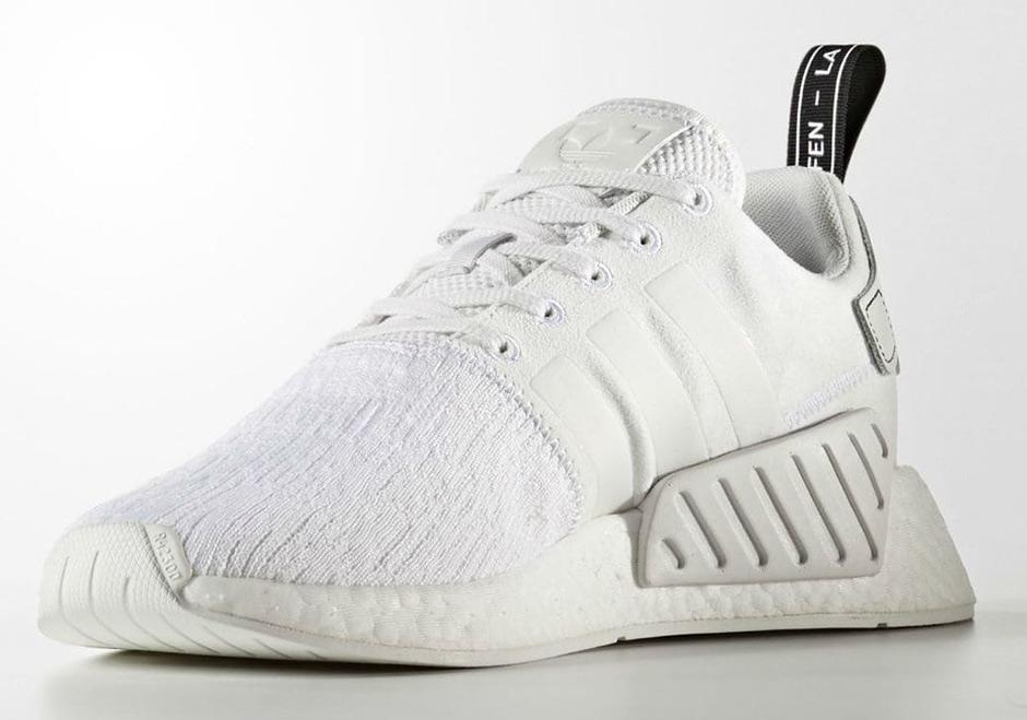 "b41a68cfe8b49 ""Triple White"" Is Hitting The adidas NMD R2 Primeknit"