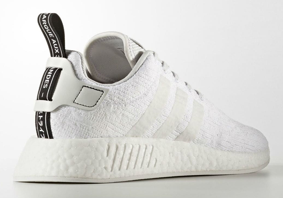 cheaper d42ce 964b0 adidas NMD R2 Primeknit Triple White   SneakerNews.com