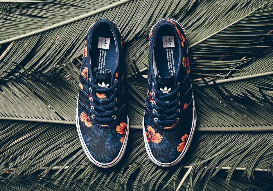The adidas Skateboarding Adi-Ease is definitely ready for summer with this  new canvas construction in a tropical floral print. Looking like a Hawaiian  shirt ... 5c59f27c2