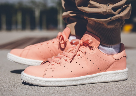 The adidas Stan Smith Boost Joins In On The Pink Sneaker Craze