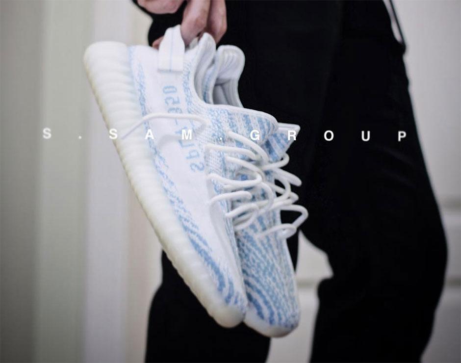 e276301f768c3 adidas Yeezy Boost 350 v2 White Blue Zebra