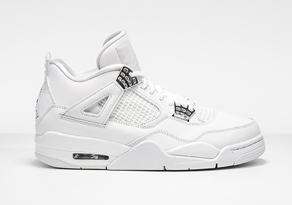 "... White Metallic Silver For Sale- Nike Air Jordan 4 Retro Air Jordan 4  Retro ""Pure Money"" Release Date May 13th 187bf04eaab"