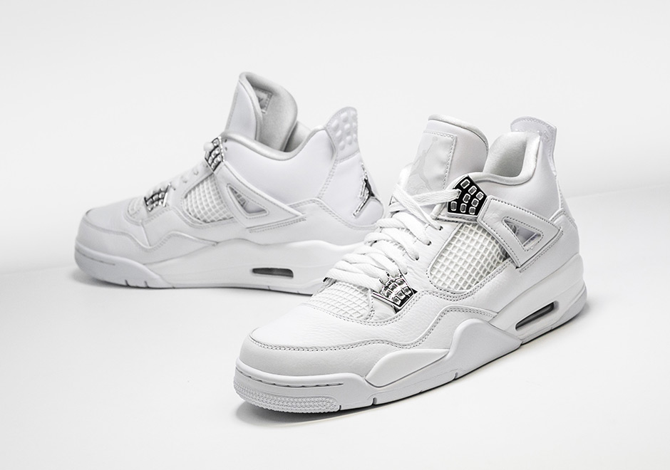 """premium selection 09d96 15a4e Air Jordan 4 Retro """"Pure Money"""" Release Date  May 13th, 2017. AVAILABLE NOW  AT Stadium Goods  190. Color  White Metallic Silver-Pure Platinum"""