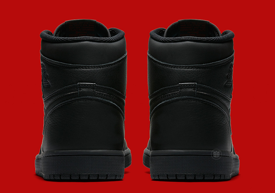 Air Jordan 1 Retro Mediados Negro Rojo Universidad NpyekH