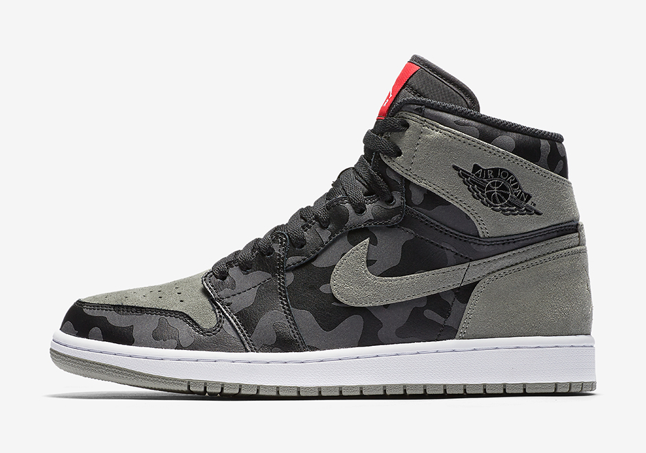 "ee42bc22414 Air Jordan 1 High ""Shadow Camo"" Release Date: August 3rd, 2017 $145. Style  Code: AA3993-034"