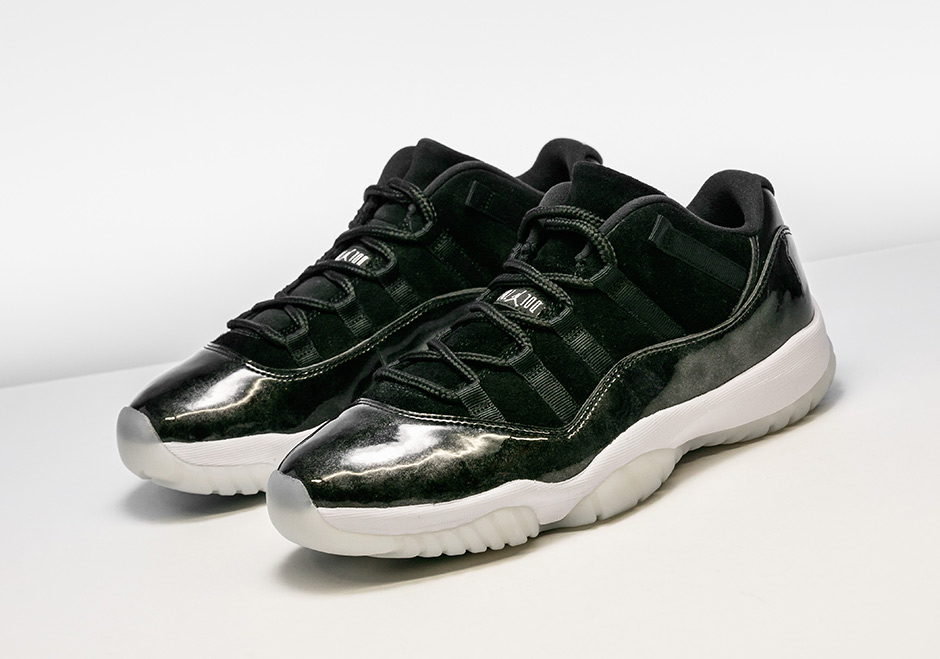 "Air Jordan 11 Low ""Barons"" Available Early At Stadium Goods"