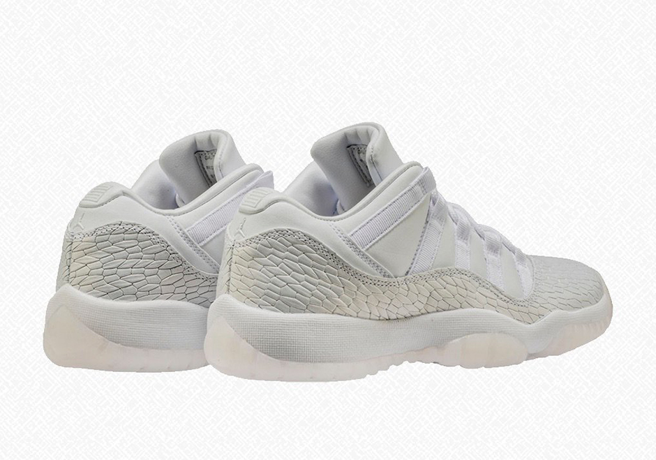 "0e6cfcb9cba Air Jordan 11 Low GG ""Heriess"" Release Date: May 20th, 2017 $175. Color:  White/White-Pure Platinum Style Code: 897331-100"