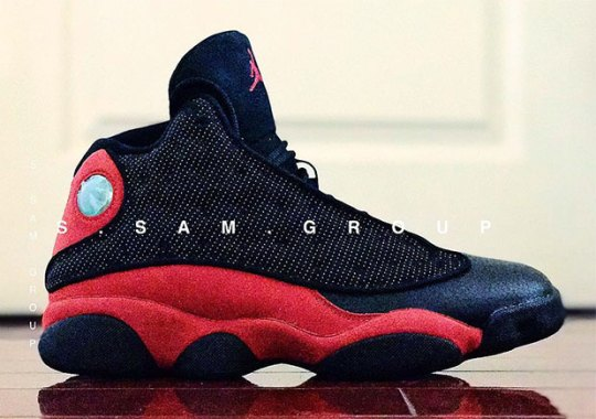 "cc81438948a2 First Look At The Air Jordan 13 ""Bred"" Retro"