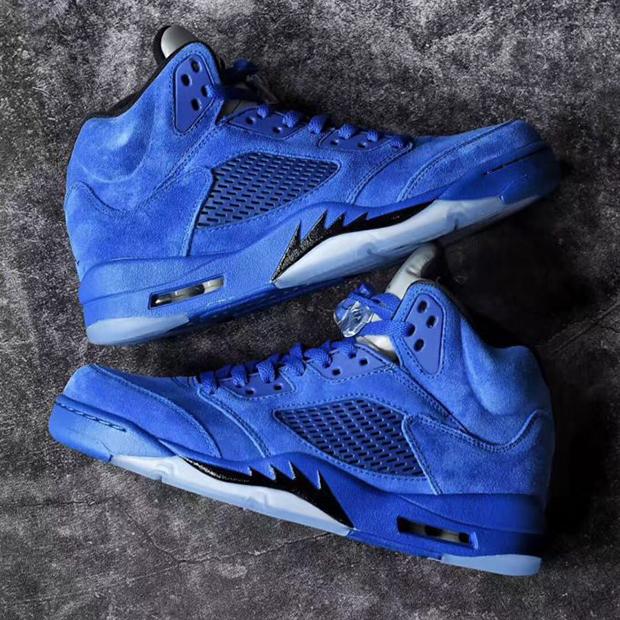 sale retailer 2d03a 127b0 Jordan 5 Blue Suede Release Date 136021-401 - September 2017 ...