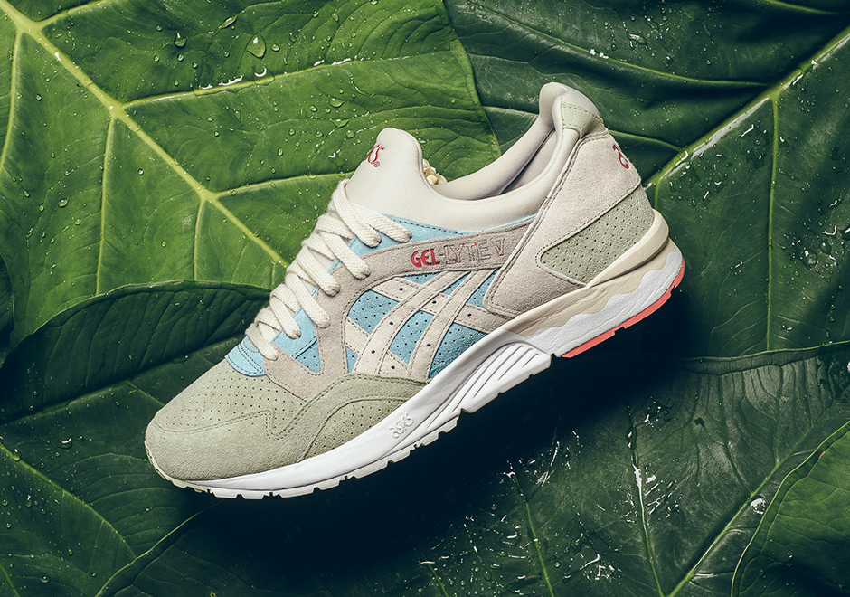 6fb46e68c6dd The ASICS GEL-Lyte V gets ready for summer with this subtly tropical color  scheme. The clean look features  Reef Water  blue mixed with sandy tan and  light ...